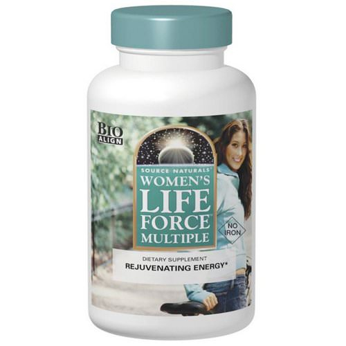 Source Naturals, Women's Life Force Multiple, No Iron, 180 Tablets Review