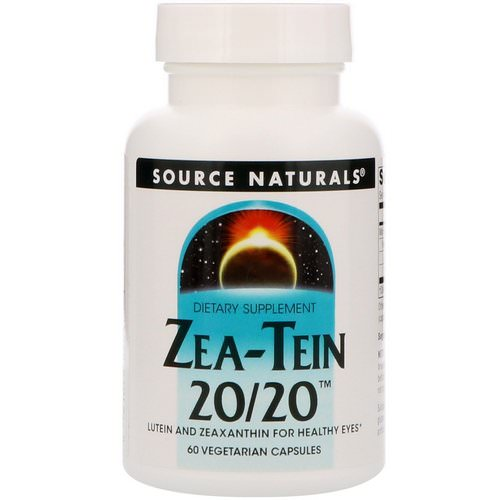 Source Naturals, Zea-Tein 20/20, 60 Vegetarian Capsules Review