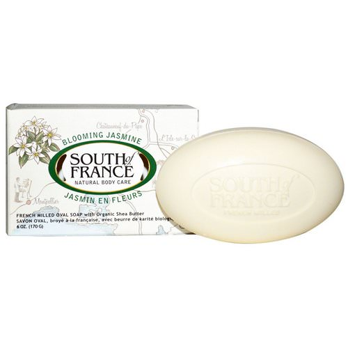 South of France, Blooming Jasmine, French Milled Oval Soap with Organic Shea Butter, 6 oz (170 g) Review