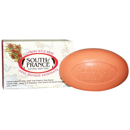 South of France, Climbing Wild Rose, French Milled Oval Soap with Organic Shea Butter, 6 oz (170 g) Review