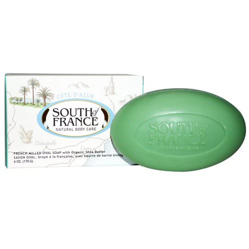 South of France, Cote D' Azur, French Milled Bar Oval Soap with Organic Shea Butter, 6 oz (170 g) Review