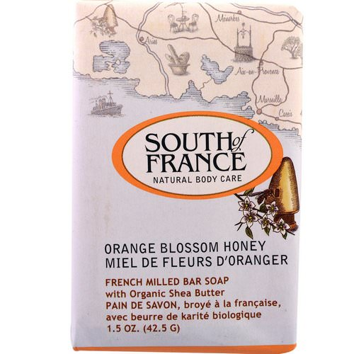 South of France, French Milled Bar Soap with Organic Shea Butter, Orange Blossom Honey, 1.5 oz (42.5 g) Review