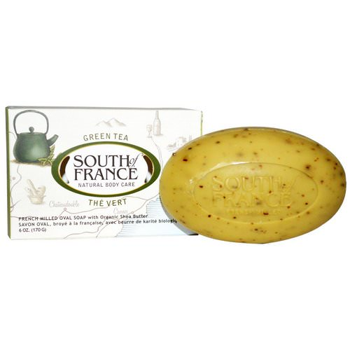 South of France, Green Tea, French Milled Bar Oval Soap with Organic Shea Butter, 6 oz (170 g) Review