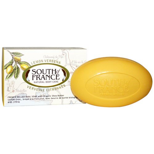 South of France, Lemon Verbena, French Milled Oval Soap with Organic Shea Butter, 6 oz (170 g) Review