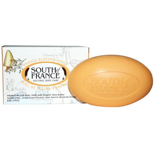 South of France, Orange Blossom Honey, French Milled Bar Soap with Organic Shea Butter, 6 oz (170 g) Review