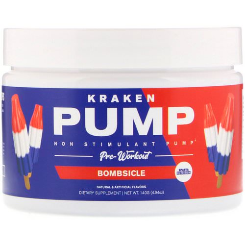 Sparta Nutrition, Kraken Pump, Non-Stimulant Pre-Workout, Bombsicle, 4.94 oz (140 g) Review
