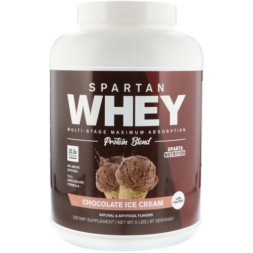 Sparta Nutrition, Spartan Whey, Chocolate Ice Cream, 5 lbs Review
