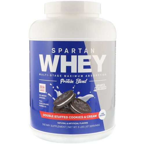 Sparta Nutrition, Spartan Whey, Double Stuffed Cookies & Cream, 5 lbs Review