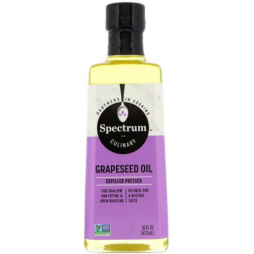 Spectrum Culinary, Grapeseed Oil, 16 fl oz (473 ml) Review