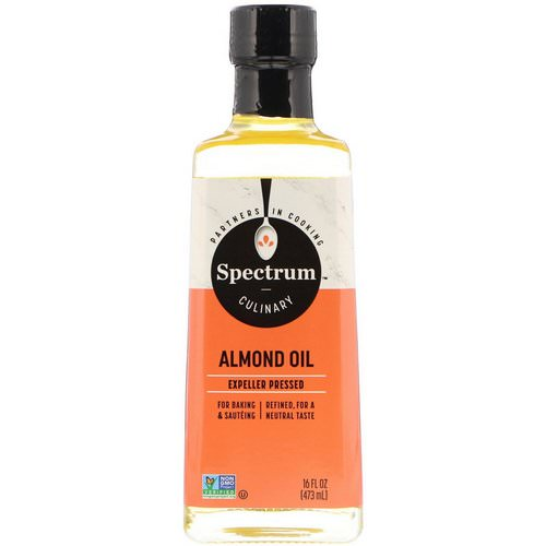 Spectrum Culinary, Almond Oil, Expeller Pressed, 16 fl oz (473 ml) Review