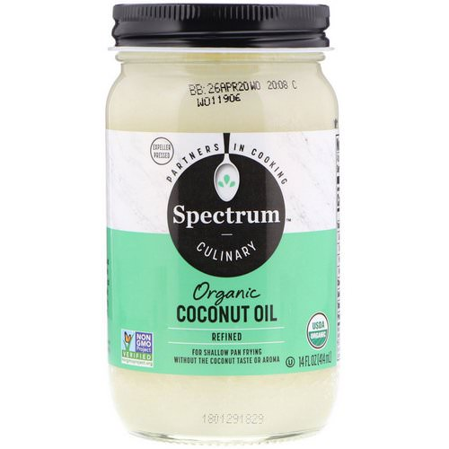 Spectrum Culinary, Organic Coconut Oil, Refined, 14 fl oz (414 ml) Review