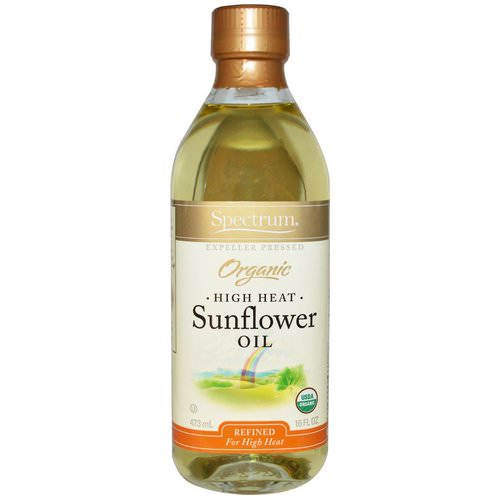 Spectrum Culinary, Organic High Heat Sunflower Oil, Refined, 16 fl oz (473 ml) Review