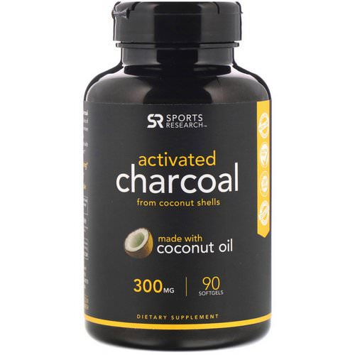 Sports Research, Activated Charcoal From Coconut Shells, 300 mg, 90 Softgels Review
