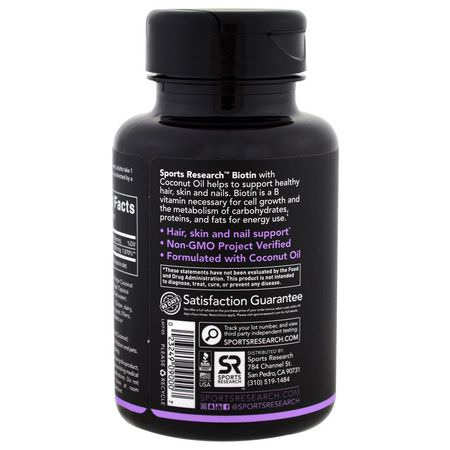 Sports Research, Sports Supplements, Biotin