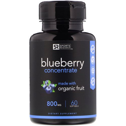 Sports Research, Blueberry Concentrate, 800 mg, 60 Softgels Review