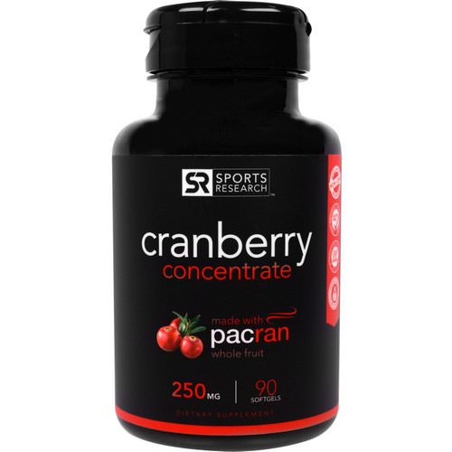 Sports Research, Cranberry Concentrate, 250 mg, 90 Softgels Review