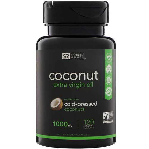 Sports Research, Extra Virgin Coconut Oil, 1000 mg, 120 Veggie Softgels Review