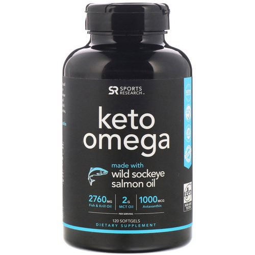 Sports Research, Keto Omega with Wild Sockeye Salmon Oil, 120 Softgels Review