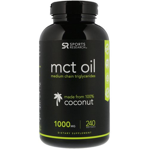 Sports Research, MCT Oil, 1000 mg, 240 Softgels Review