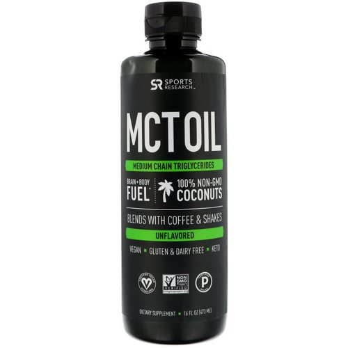 Sports Research, MCT Oil, Unflavored, 16 fl oz (473 ml) Review