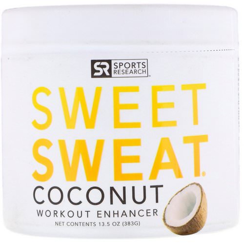Sports Research, Sweet Sweat Workout Enhancer, Coconut, 13.5 oz (383 g) Review