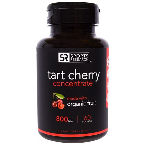 Sports Research, Tart Cherry Concentrate, 800 mg, 60 Softgels Review