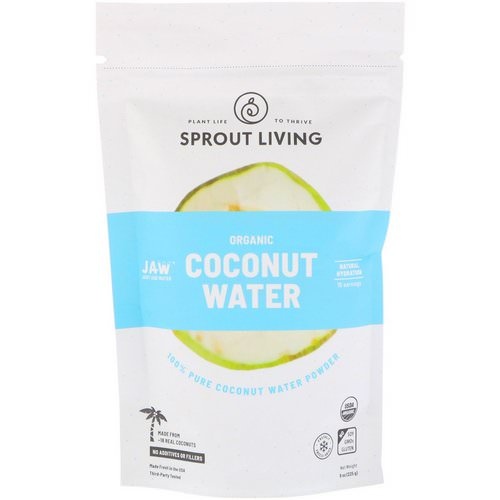 Sprout Living, Organic Coconut Water Powder, 8 oz (225 g) Review