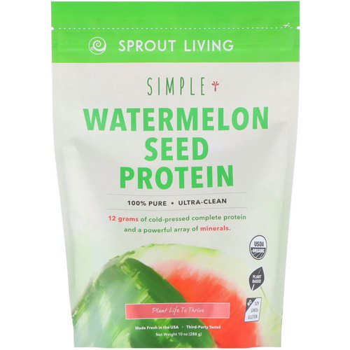 Sprout Living, Simple, Watermelon Seed Protein, 10 oz (288 g) Review