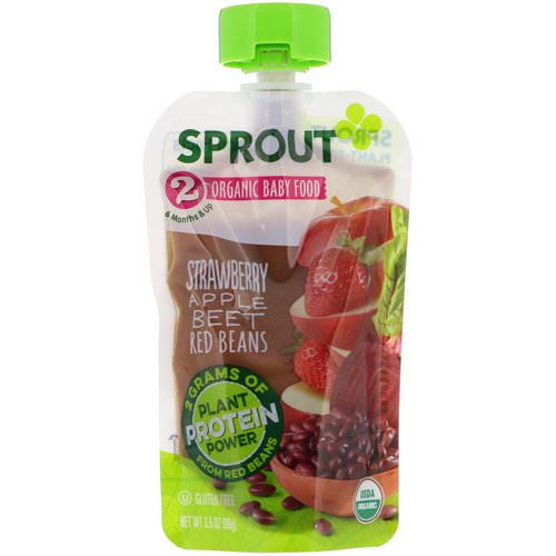 Sprout Organic, Baby Food, Stage 2, Strawberry, Apple, Beet, Red Beans, 3.5 oz (99 g) Review