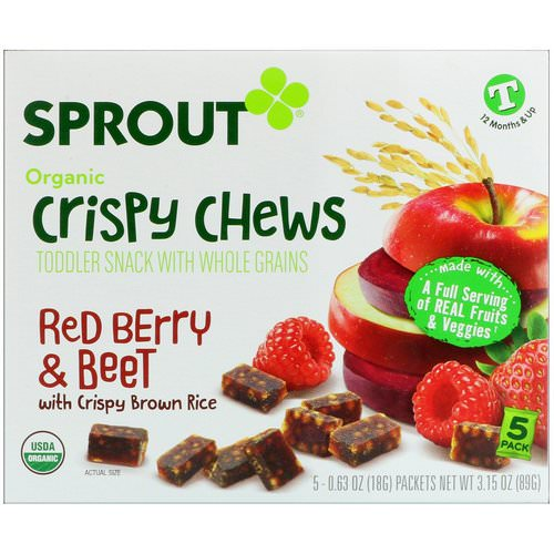 Sprout Organic, Crispy Chews, Red Berry & Beet, 5 Packets, 0.63 oz (18 g) Each Review