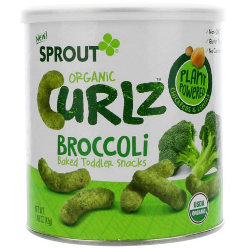 Sprout Organic, Curlz, Broccoli, 1.48 oz (42 g) Review