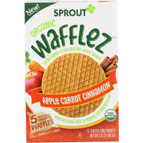 Sprout Organic, Wafflez, Apple Carrot Cinnamon, 5 Packets, 0.63 oz (18 g) Review
