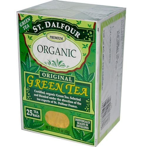 St. Dalfour, Organic, Original Green Tea, 25 Tea Bags, 1.75 oz (50 g) Review
