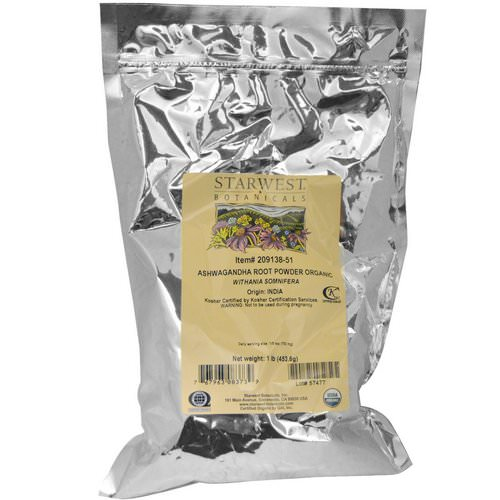 Starwest Botanicals, Organic Ashwagandha Root Powder, 1 lbs (453.6 g) Review