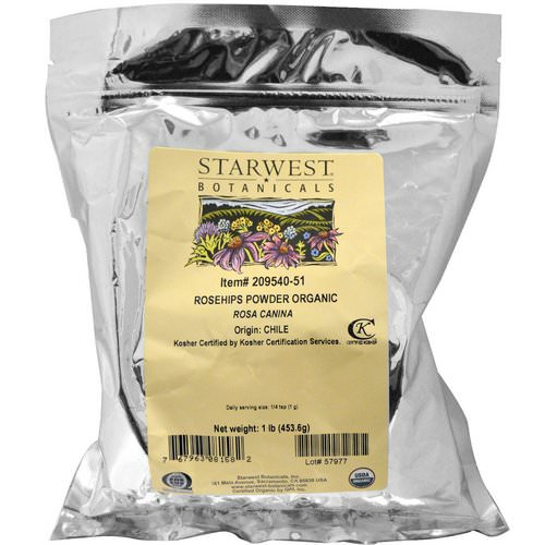 Starwest Botanicals, Rosehips Powder, Organic, 1 lb (453.6 g) Review