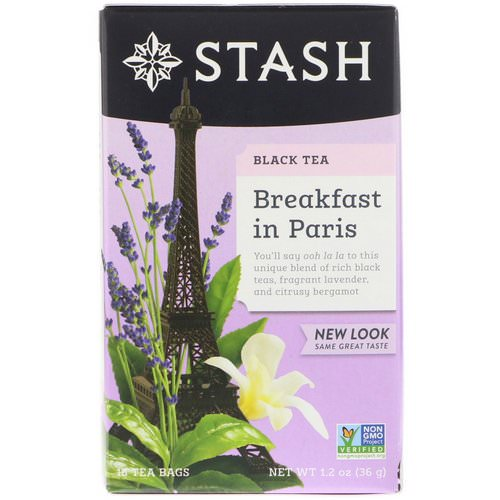 Stash Tea, Black Tea, Breakfast in Paris, 18 Tea Bags, 1.2 oz (36 g) Review
