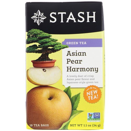 Stash Tea, Green Tea, Asian Pear Harmony, 18 Tea Bags, 1.1 oz (34 g) Review