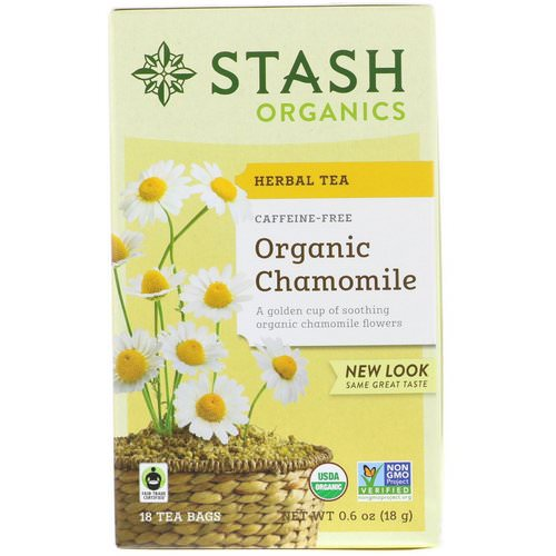 Stash Tea, Herbal Tea, Organic Chamomile, Caffeine Free, 18 Tea Bags, 0.6 oz (18 g) Review