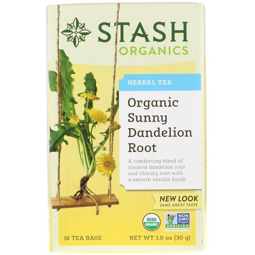 Stash Tea, Herbal Tea, Organic Sunny Dandelion Root, 18 Tea Bags, 1.0 oz (30 g) Review