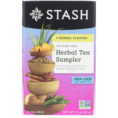 Stash Tea, Herbal Tea Sampler, 9 Flavors, Caffeine Free, 18 Tea Bags, 1.0 oz (30 g) Review