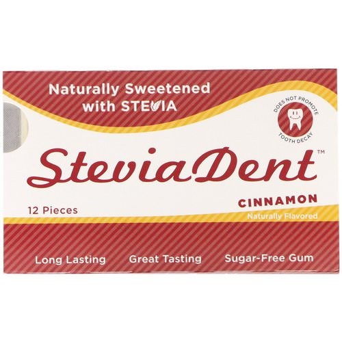 Stevita, SteviaDent, Sugar-Free Gum, Cinnamon, 12 Pieces Review