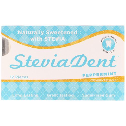 Stevita, SteviaDent, Sugar-Free Gum, Peppermint, 12 Pieces Review