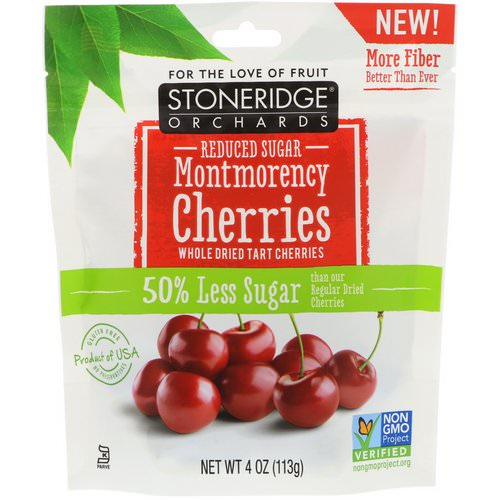 Stoneridge Orchards, Montmorency Cherries, Whole Dried Tart Cherries, Reduced Sugar, 4 oz (113 g) Review