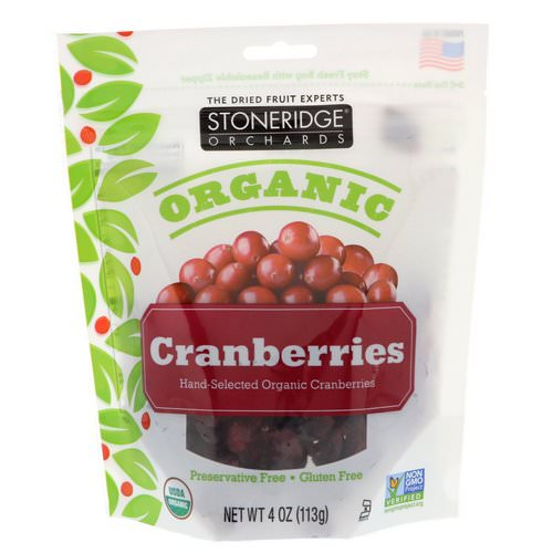 Stoneridge Orchards, Organic Cranberries, 4 oz (113 g) Review
