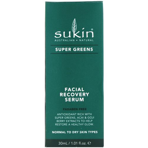 Sukin, Super Greens, Facial Recovery Serum, 1.01 fl oz (30 ml) Review