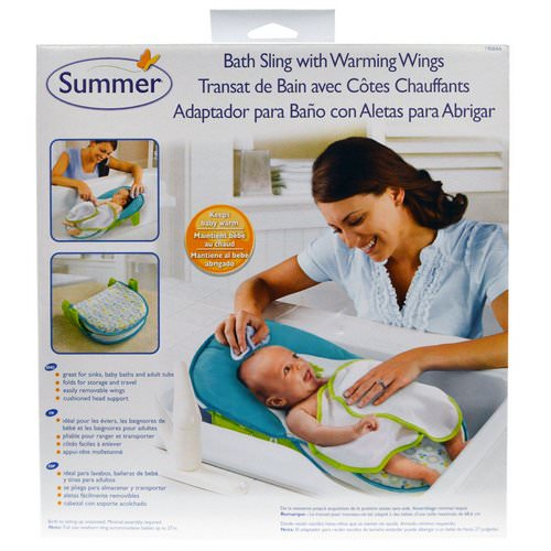 Summer Infant, Bath Sling with Warming Wings, 1 Set Review