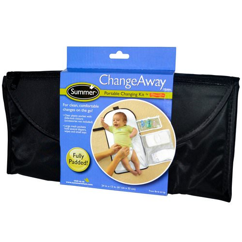 Summer Infant, ChangeAway, Portable Changing Kit, From Birth & Up, 24 in x 13 in (61 cm x 33 cm) Review