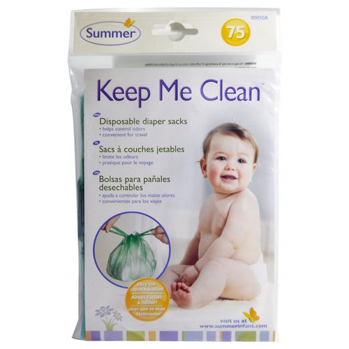Summer Infant, Keep Me Clean, Disposable Diaper Sacks, 75 Count Review