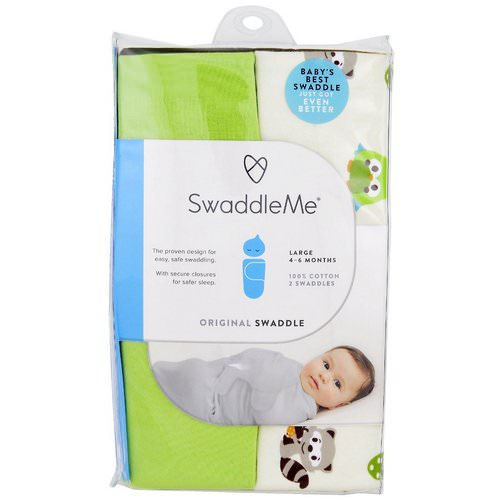 Summer Infant, Swaddle Me, Original Swaddle, Large, 4-6 Months, Woodland Friends, 2 Swaddles Review