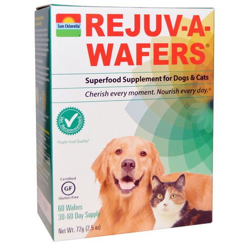 Sun Chlorella, Rejuv-A-Wafers, Superfood Supplement for Dogs & Cats, 60 Wafers Review